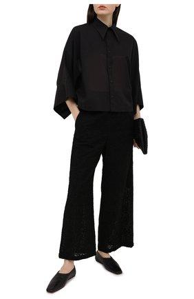 Женская хлопковая рубашка Y`S черного цвета, арт. YT-B43-031   Фото 2