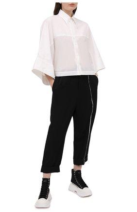 Женская хлопковая рубашка Y`S белого цвета, арт. YT-B43-031   Фото 2