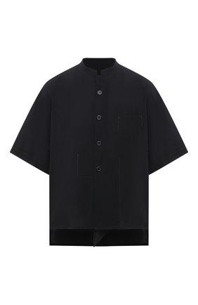 Женская хлопковая рубашка Y`S черного цвета, арт. YT-B03-030   Фото 1