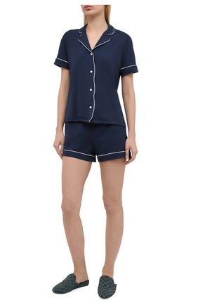 Женская пижама DEREK ROSE синего цвета, арт. 2035-LARA001 | Фото 1