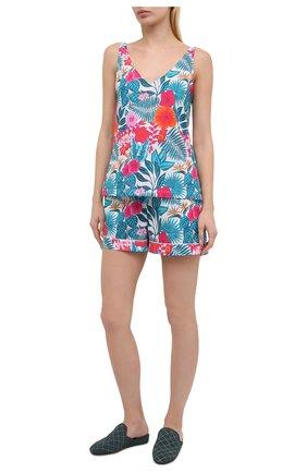 Женская хлопковая пижама DEREK ROSE разноцветного цвета, арт. 2023-LEDB044 | Фото 1
