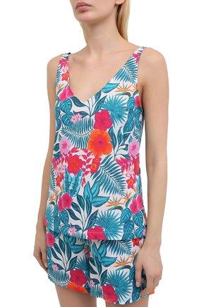 Женская хлопковая пижама DEREK ROSE разноцветного цвета, арт. 2023-LEDB044 | Фото 2