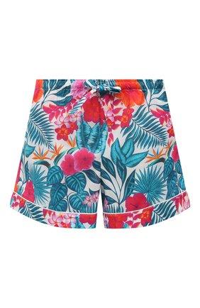 Женские хлопковые шорты DEREK ROSE разноцветного цвета, арт. 1253-LEDB044 | Фото 1