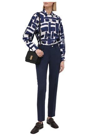 Женские брюки KITON темно-синего цвета, арт. D49109K09T09 | Фото 2