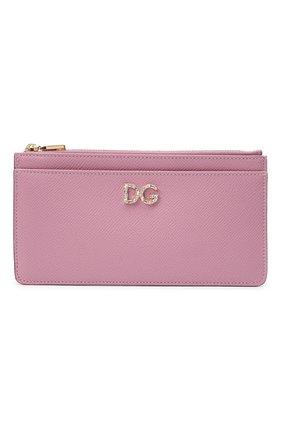 Женский футляр для кредитных карт DOLCE & GABBANA светло-розового цвета, арт. BI1265/AU771 | Фото 1