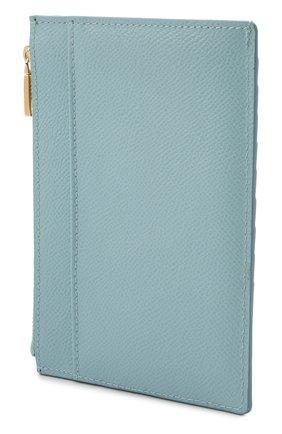 Женский кожаный футляр для кредитных карт DOLCE & GABBANA голубого цвета, арт. BI1390/AU771 | Фото 2