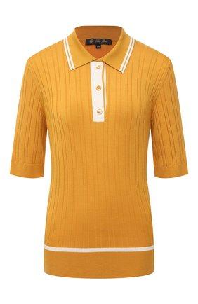 Женское поло из кашемира и шелка LORO PIANA желтого цвета, арт. FAL5244 | Фото 1