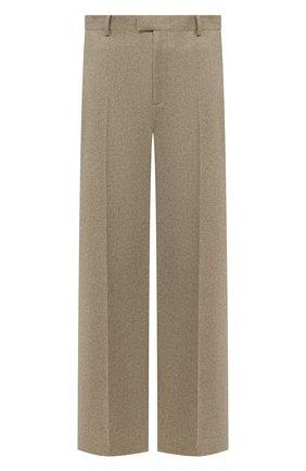 Мужские шерстяные брюки BOTTEGA VENETA бежевого цвета, арт. 651877/V0AX0   Фото 1