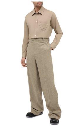 Мужские шерстяные брюки BOTTEGA VENETA бежевого цвета, арт. 651877/V0AX0   Фото 2