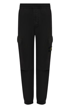Мужские хлопковые джоггеры STONE ISLAND черного цвета, арт. 741531303 | Фото 1