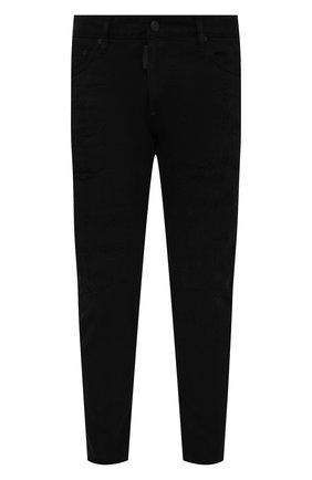 Мужские джинсы DSQUARED2 черного цвета, арт. S74LB0860/STN833 | Фото 1