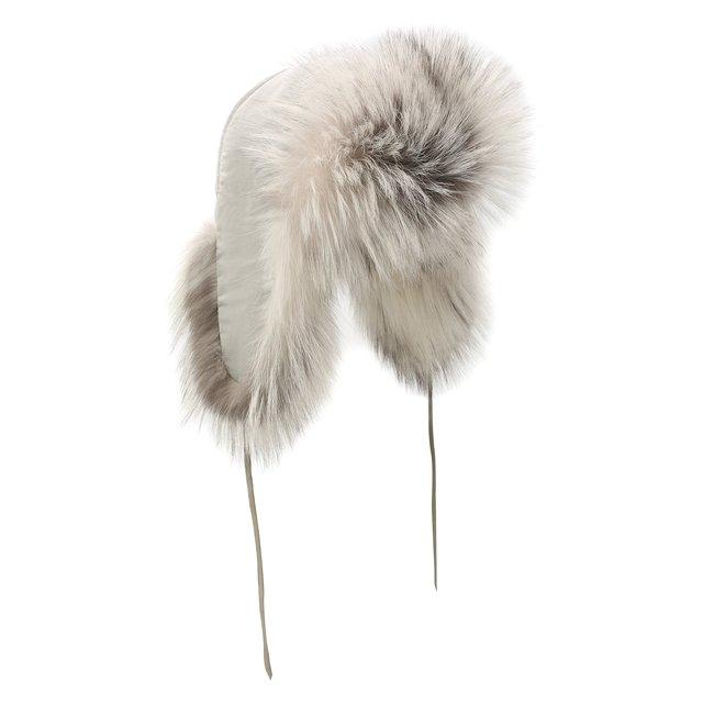 Шапка-ушанка из меха лисы FurLand