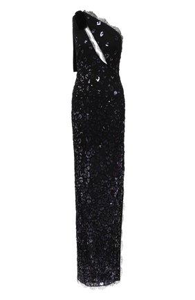 Женское платье TOM FORD темно-синего цвета, арт. AB2895-SDE272 | Фото 1 (Материал внешний: Синтетический материал; Женское Кросс-КТ: Платье-одежда; Стили: Романтичный; Рукава: Без рукавов; Материал подклада: Шелк)