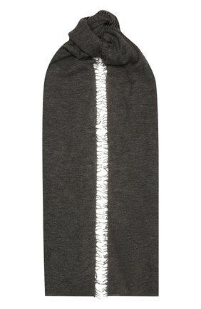 Женский кашемировый шарф helsinki BALMUIR темно-серого цвета, арт. 122102   Фото 1