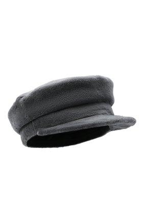Женская кепи из меха норки KUSSENKOVV серого цвета, арт. 120110008427 | Фото 1 (Материал: Натуральный мех)