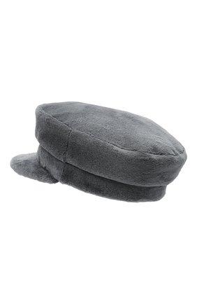 Женская кепи из меха норки KUSSENKOVV серого цвета, арт. 120110008427 | Фото 2 (Материал: Натуральный мех)
