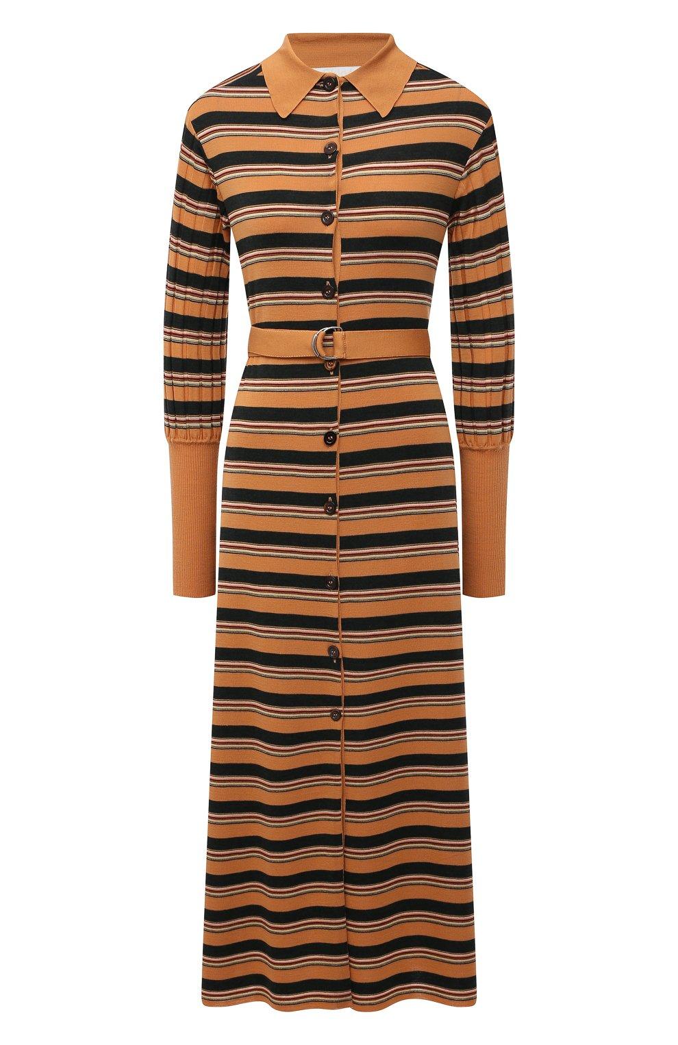 Женское платье из шерсти и вискозы CHLOÉ разноцветного цвета, арт. CHC21SMR04670   Фото 1