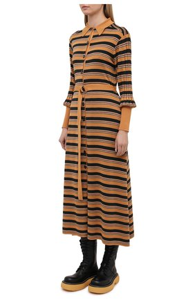 Женское платье из шерсти и вискозы CHLOÉ разноцветного цвета, арт. CHC21SMR04670   Фото 3