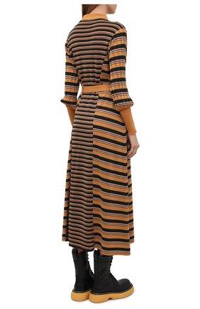 Женское платье из шерсти и вискозы CHLOÉ разноцветного цвета, арт. CHC21SMR04670   Фото 4