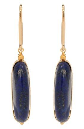 Женские серьги ISABEL MARANT темно-синего цвета, арт. BL0907-21P025B | Фото 1