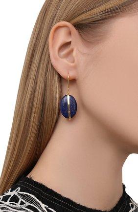 Женские серьги ISABEL MARANT темно-синего цвета, арт. BL0907-21P025B | Фото 2