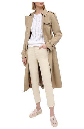 Женский свитер из хлопка и льна BRUNELLO CUCINELLI белого цвета, арт. M70573220   Фото 2
