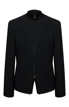 Женский шерстяной жакет GIORGIO ARMANI черного цвета, арт. 1SHGG0KE/T01HK | Фото 1