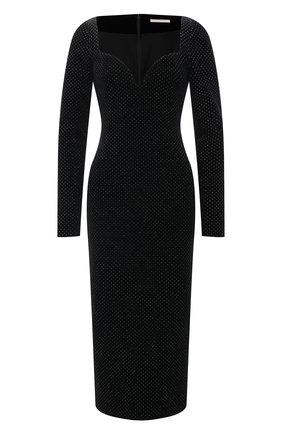 Женское платье CHRISTOPHER KANE черного цвета, арт. RE21 DR3701 GLITTER VELVET | Фото 1