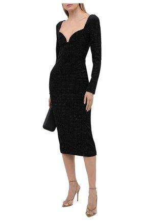 Женское платье CHRISTOPHER KANE черного цвета, арт. RE21 DR3701 GLITTER VELVET | Фото 2