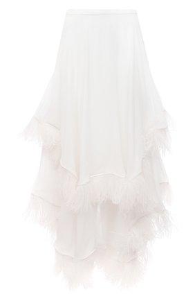 Женская шелковая юбка CHRISTOPHER KANE белого цвета, арт. BR21 SK1318 SINGLE GE0RGETTE | Фото 1