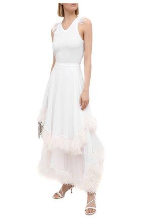 Женская шелковая юбка CHRISTOPHER KANE белого цвета, арт. BR21 SK1318 SINGLE GE0RGETTE | Фото 2