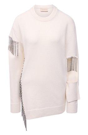 Женский шерстяной свитер CHRISTOPHER KANE белого цвета, арт. BR21 JU581 MERIN0 W00L | Фото 1