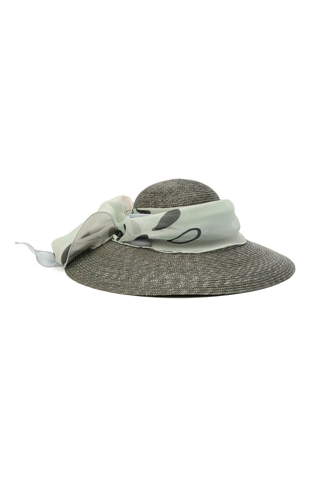 Женская соломенная шляпа GIORGIO ARMANI серого цвета, арт. 797008/1P501 | Фото 1