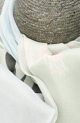 Женская соломенная шляпа GIORGIO ARMANI серого цвета, арт. 797008/1P501 | Фото 3