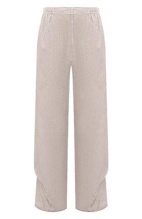 Женские хлопковые брюки GIORGIO ARMANI бежевого цвета, арт. 1SHPP0HA/T02FM | Фото 1