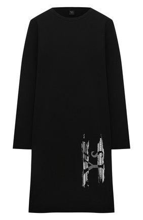 Женское хлопковое платье Y`S черного цвета, арт. YT-T03-670 | Фото 1
