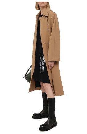 Женское хлопковое платье Y`S черного цвета, арт. YT-T03-670 | Фото 2