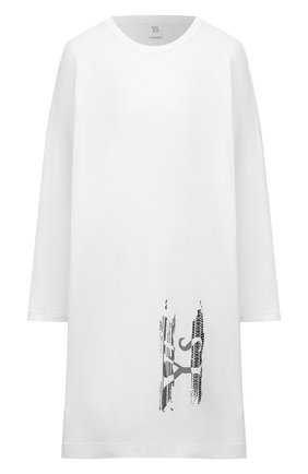 Женское хлопковое платье Y`S белого цвета, арт. YT-T03-670   Фото 1