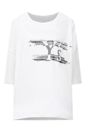 Женская хлопковая футболка Y`S белого цвета, арт. YT-T02-670   Фото 1