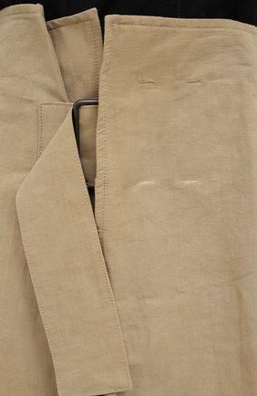 Женская юбка из льна и хлопка Y`S бежевого цвета, арт. YT-S40-330 | Фото 5 (Женское Кросс-КТ: Юбка-одежда; Материал внешний: Хлопок, Лен; Длина Ж (юбки, платья, шорты): Макси; Стили: Кэжуэл)