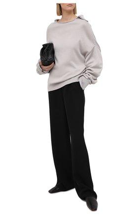 Женский пуловер из хлопка и вискозы Y`S серого цвета, арт. YT-K72-049   Фото 2
