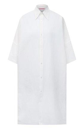 Женская рубашка из льна и хлопка Y`S белого цвета, арт. YT-B40-330   Фото 1