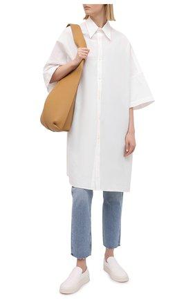 Женская рубашка из льна и хлопка Y`S белого цвета, арт. YT-B40-330   Фото 2