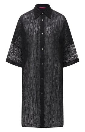 Женская хлопковая рубашка Y`S черного цвета, арт. YT-B40-032   Фото 1
