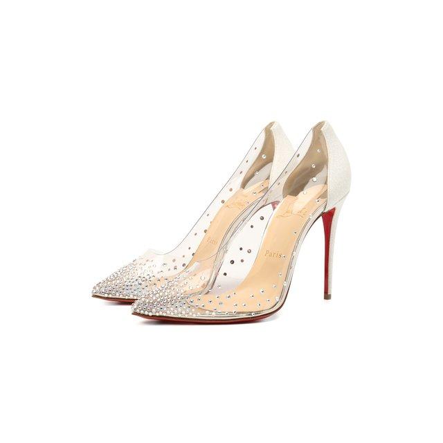 Комбинированные туфли Degrastrass 100 Christian Louboutin