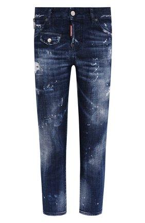 Женские джинсы DSQUARED2 темно-синего цвета, арт. S75LB0438/S30342 | Фото 1