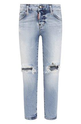 Женские джинсы DSQUARED2 голубого цвета, арт. S75LB0496/S30663 | Фото 1
