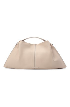Женский сумка-шопер BRUNELLO CUCINELLI кремвого цвета, арт. MBBGD2257 | Фото 1 (Сумки-технические: Сумки-шопперы; Материал: Натуральная кожа; Размер: large)