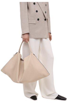 Женский сумка-шопер BRUNELLO CUCINELLI кремвого цвета, арт. MBBGD2257 | Фото 2 (Сумки-технические: Сумки-шопперы; Материал: Натуральная кожа; Размер: large)
