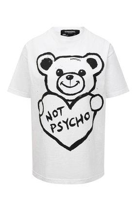 Женская хлопковая футболка DOMREBEL белого цвета, арт. PSYCH0/B0X T-SHIRT/W   Фото 1